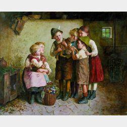 Edmund Adler (Austrian, 1876-1965)    A New Friend