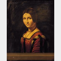 After Leonardo da Vinci (Italian, 1452-1519)      Portrait of an Unknown Woman (La Belle Ferroniere)