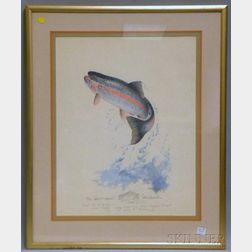 Ken Carlson (American, b. 1937)      Photomechanical Reproduction of a Leaping Trout.
