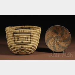 Two Southwest Coiled Baskets