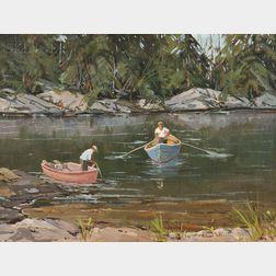 Robert Shaw Wesson (American, 1902-1967)      Maine Fishermen