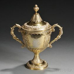 George IV Irish Sterling Silver Gilt Cup and Cover
