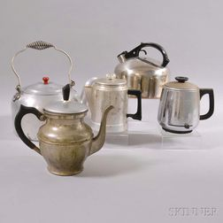 Five Aluminum Kettles and Percolators.     Estimate $20-200