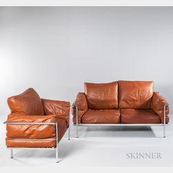 Le Corbusier Gran Comfort Sofa and Chair