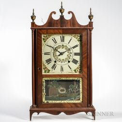 Ephraim Downes Pillar and Scroll Shelf Clock