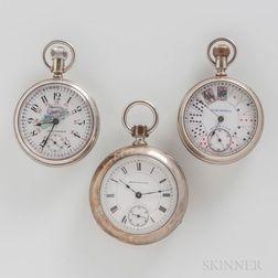 Three Seth Thomas Open-face Watches