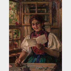Carl Kricheldorf (German, 1863-1934)      The Love Letter