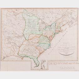 North America, United States. Franz Ludwig Güssefeld (1744-1807) Charte von den Vereinigten Staaten von Nord-America nobst Louisiana un