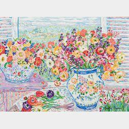 Leslie Sayour (American, b. 1947)      Floral Study