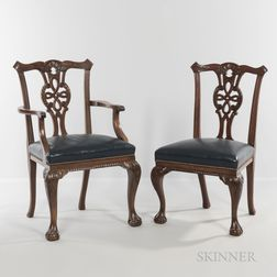 Ten Georgian-style Mahogany Dining Chairs