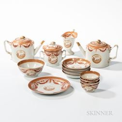 Chinese Export Porcelain Partial Tea Service