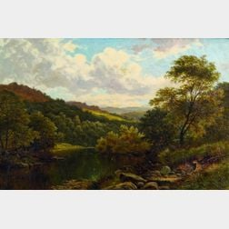 Thomas Spinks (British, fl. 1872-1909)    Vale of Llangollen