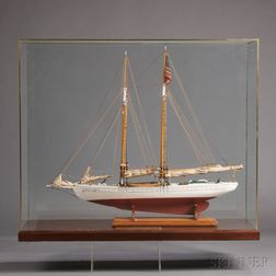 Cased Model of the Fishing Schooner Elizabeth Howard