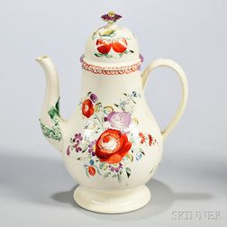 Creamware Coffeepot and Cover