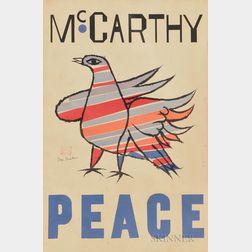 Ben Shahn (American, 1898-1969)      McCarthy Peace
