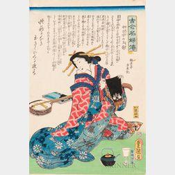 Utagawa Kunisada (Toyokuni III, 1786-1865) Woodblock Print