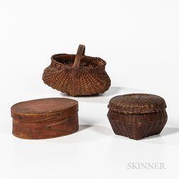 Three Small Woodenware Items