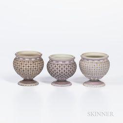 Three Wedgwood Tricolor Diceware Jasper Dip Jars
