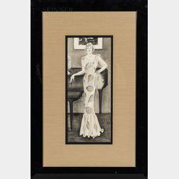 Frances Davis (American, 20th Century)      Portrait of Mrs. Walter Paepcke.