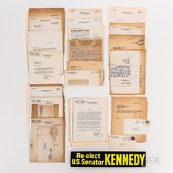 Large Collection of Correspondence Between Richard S. Kelley and Others Regarding John F. Kennedy Activities and Campaign Ephemera, 195