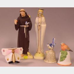 Five Collectible Ceramic Items