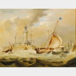 Attributed to James Edward Buttersworth (Anglo/American, 1817-1894)      Ramsgate Lighthouse, Kent