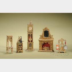 Assortment of Miniature Gilt Soft Metal Accessories