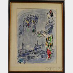 After Marc Chagall (French/Russian, 1887-1985)      Le Magicien de Paris I
