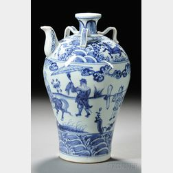 Blue and White Meiping   Ewer