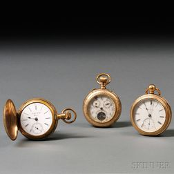 Three Gold-filled Pocket Watches