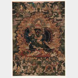 Thangka Depicting Vajrabhairava