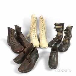 Five Pairs of Antique Children's Shoes.     Estimate $100-150