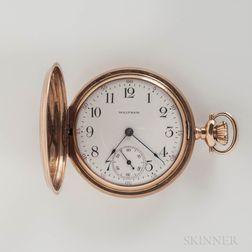 "Waltham 14kt Gold ""P.S. Bartlett"" Hunter-case Watch"
