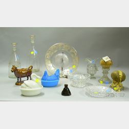 Group of Twelve Assorted Decorative and Collectible Mostly Glass Table Items