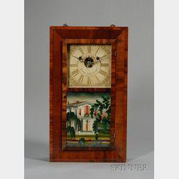Mahogany Beveled Case Shelf Clock by Silas B. Terry