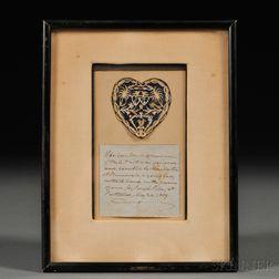 Martha Anne Hunnewell Cutwork Heart