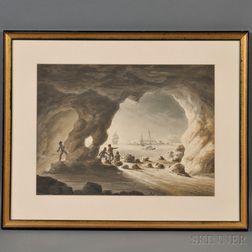 Robert Parker (British, 18th/19th Century)      Drake's Island, Plymouth Sound