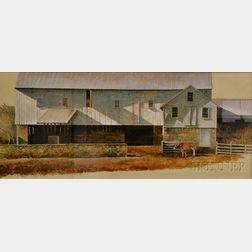 R. Benjamin Jones (American, b. 1936)      White Barn