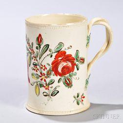 Creamware Bouquet   Mug