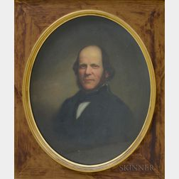 American School, 19th Century       Portrait of Israel Nash