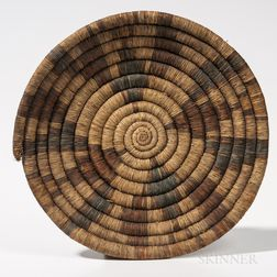 Large Southwest Coiled Basketry Wedding Plaque