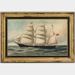 Antonio Nicolo Gasparo Jacobsen (Danish/American, 1850-1921)      Portrait of the Sailing Ship Levuka