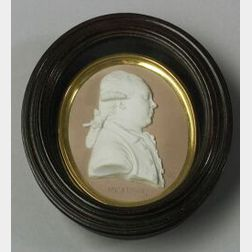 Wedgwood Lilac Jasper Dip Portrait Medallion of Charles Daniel Solander