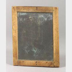 "Small Shaker Slate Chalk Board Inscribed  ""Sam,"""