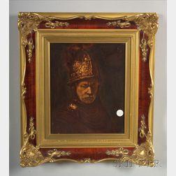 Rosenthal Plaque after Rembrandt's Der Mann mit dem Golhelm