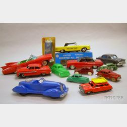 Group of Thirteen Automobile Toys