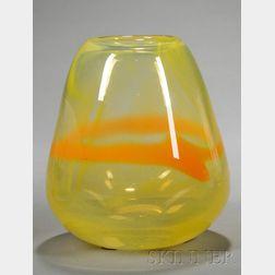 Wedgwood Yellow Glass Vase