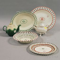 Six English Pottery Items