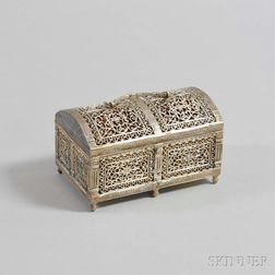 E.F. Caldwell & Co. Silver-plated Casket-form Box