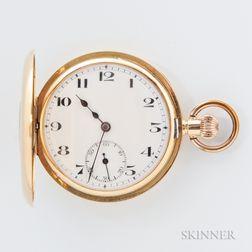 Rolex 18kt Gold Demi-hunter Case Watch